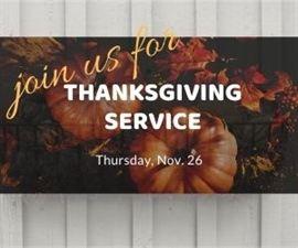 Special Thanksgiving Online Worship Service