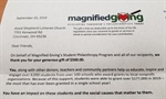 Thanks from Magnified Giving