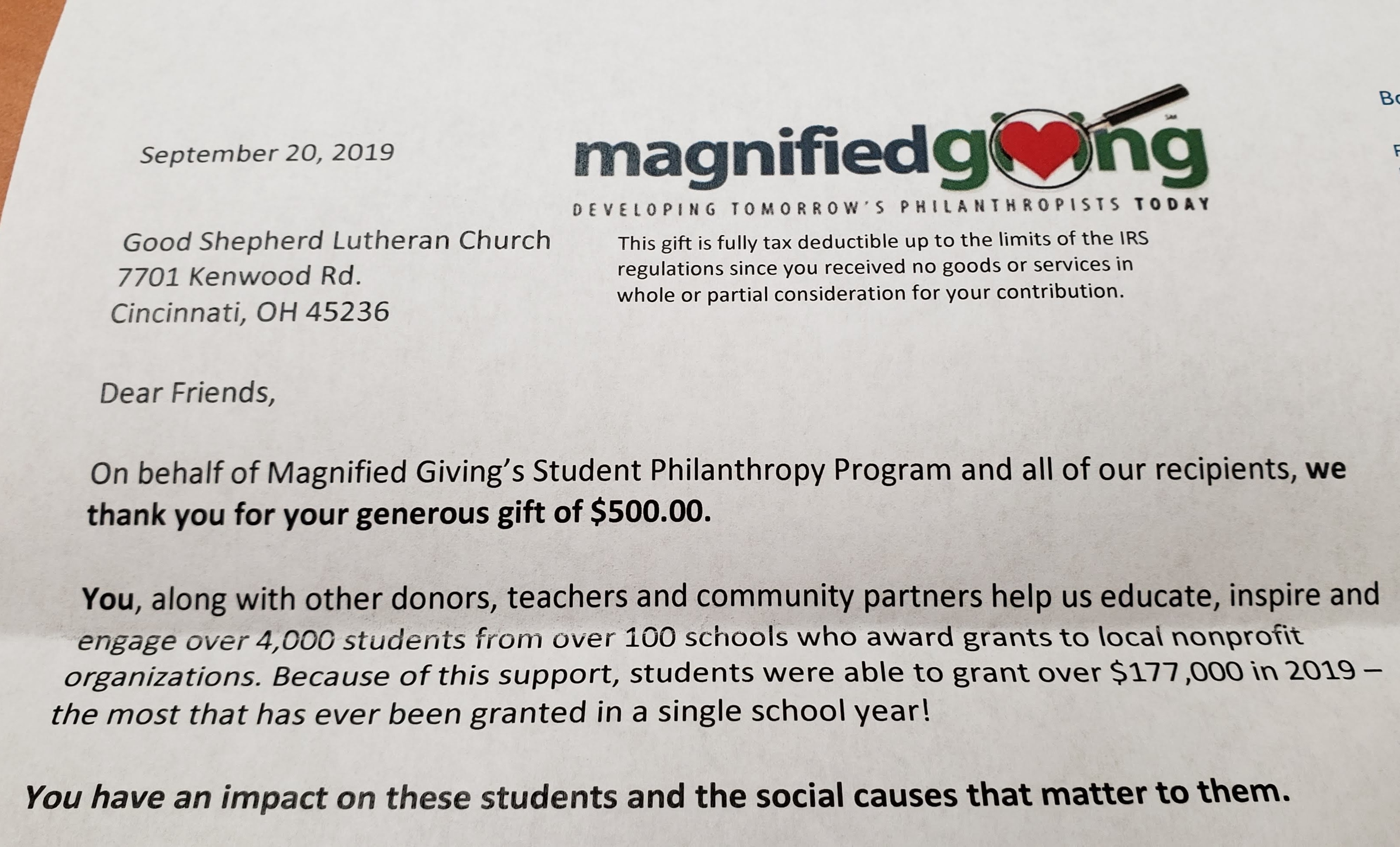 Magnified Giving in Lake County! - Forbes House  |Magnified Giving